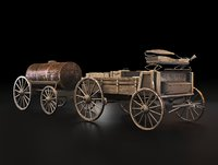 3D stage coach wild west