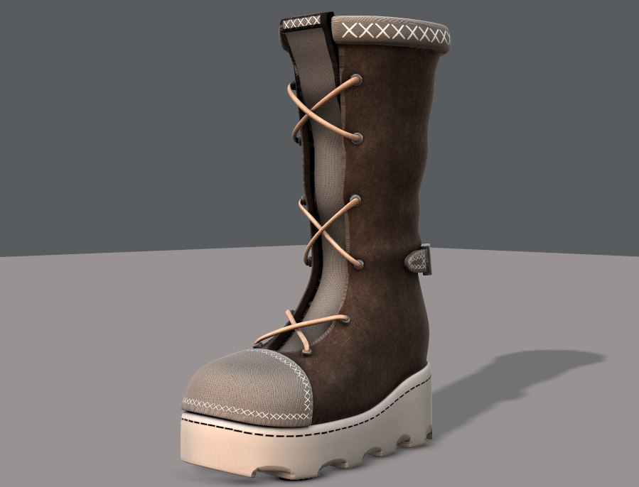 shoes cartoonv23 character cartoon 3D model