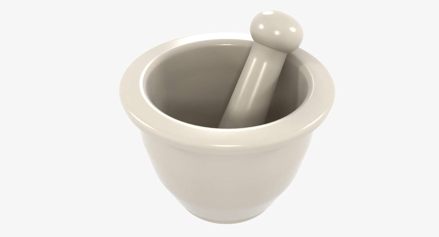 3D photorealistic mortar pestle