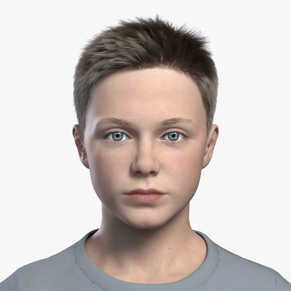 boy kid child 3D model