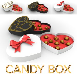 3D model lovely candy box chocolate