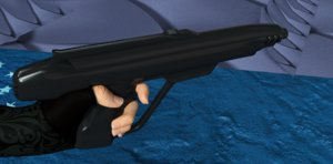 blaster laser weapon 3D model