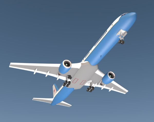 air force plane 757 3D model