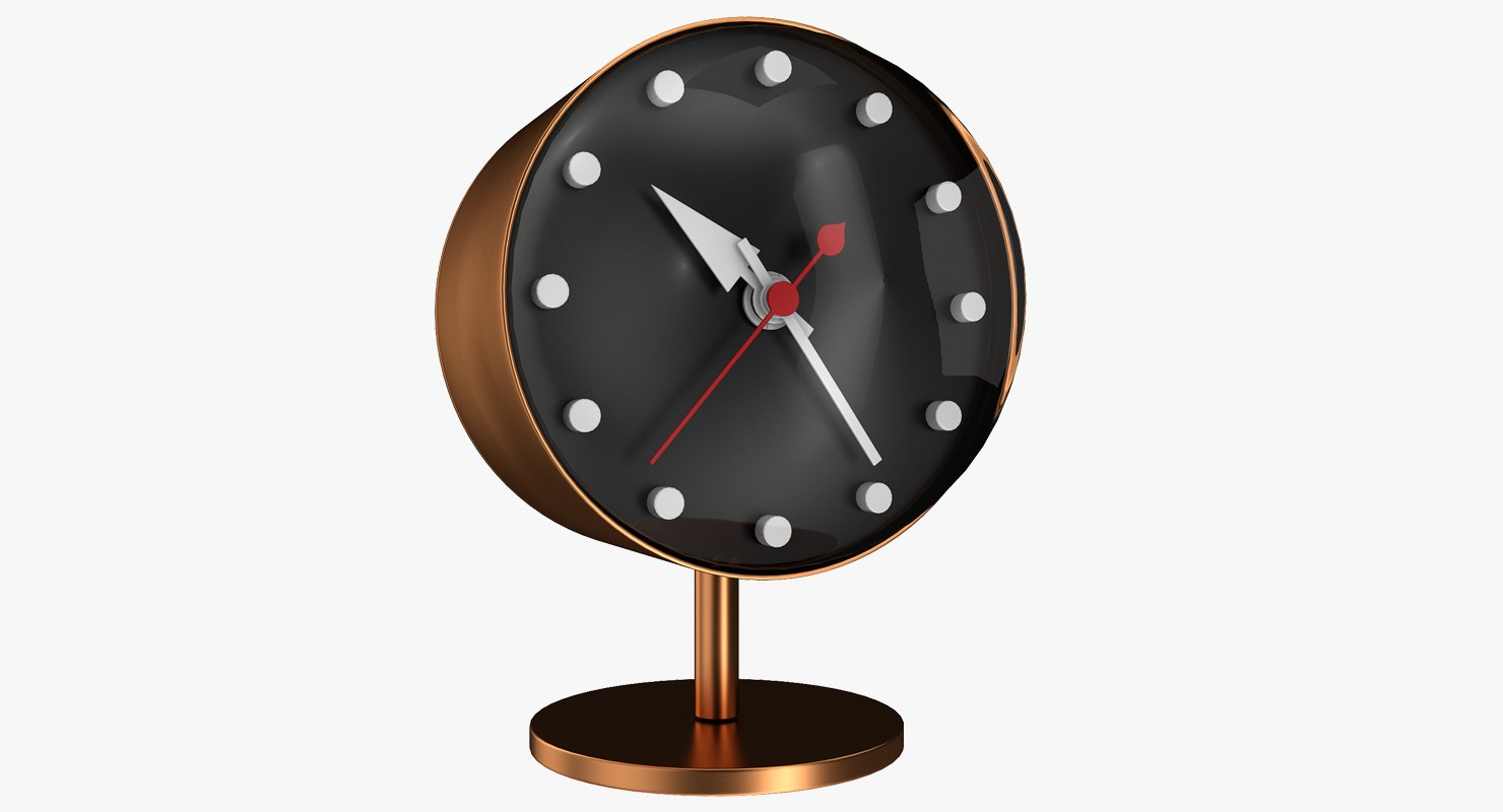 office copper clock 3D model