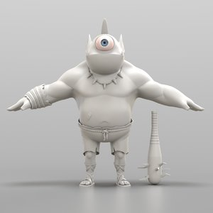 cartoon cyclops model