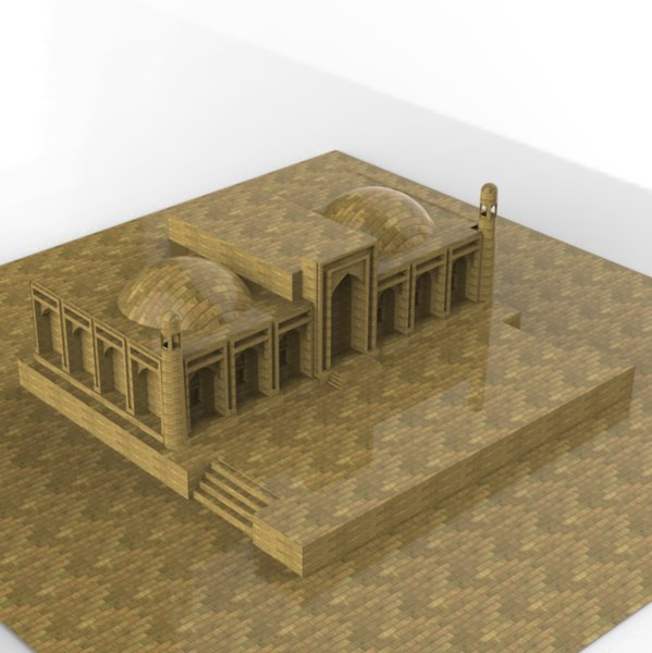 asian building old 3D