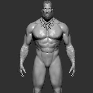 male character warriors 3D model