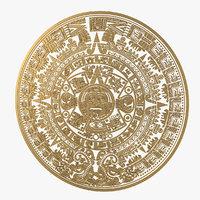 3D aztec calendar model