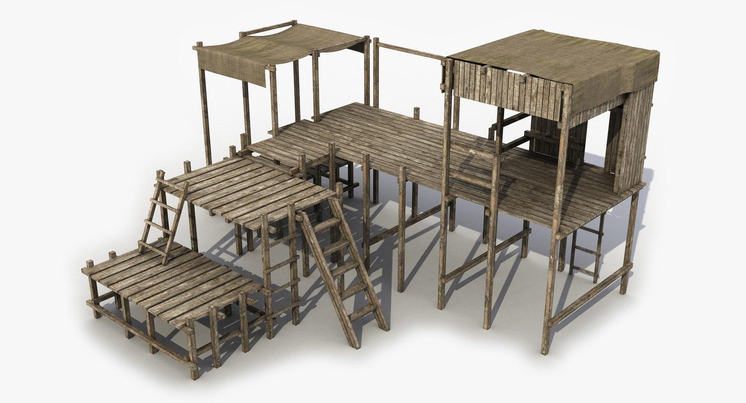 2 modeled games 3D model