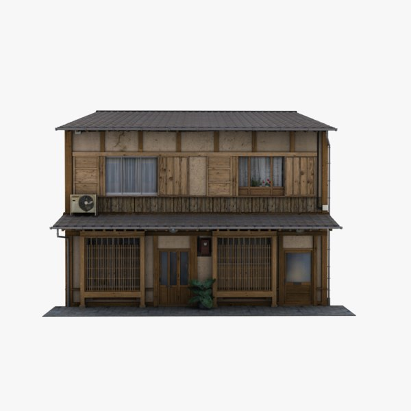 old japanese building house 3D model