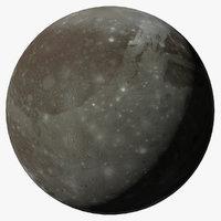 3D ganymede j3 jupiter moon