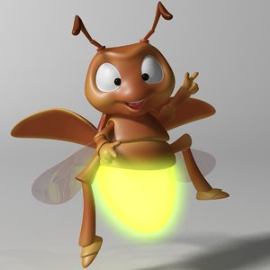 cartoon firefly rigged 3D