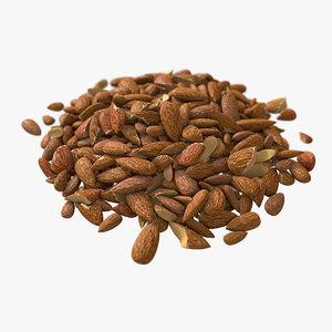 bunch almonds 3D model