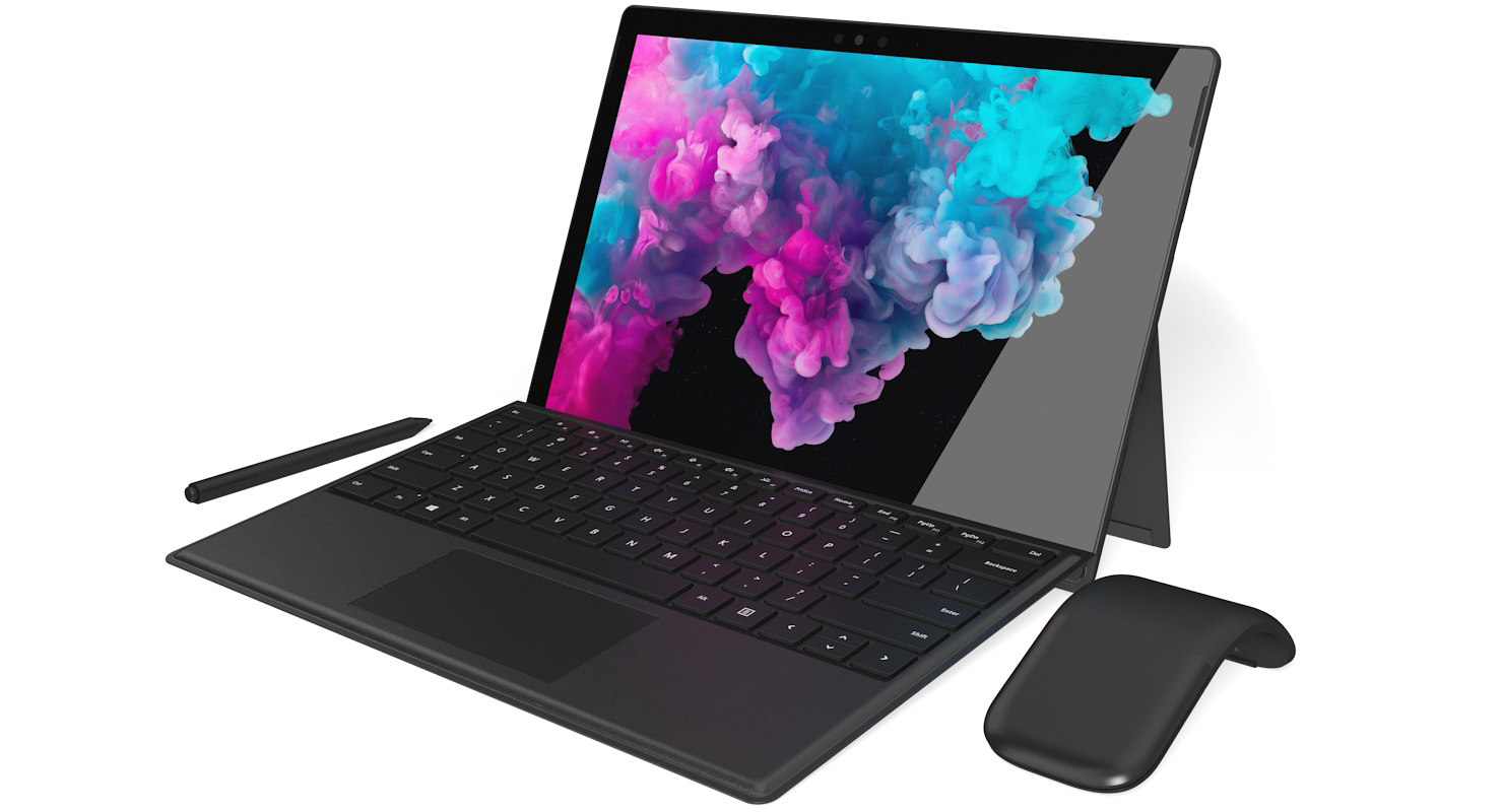 Microsoft Surface Pro 6 + Type Covers & Mouse & Pen All Colors (Rigged &  Animated)