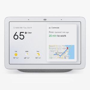 google home hub 3D