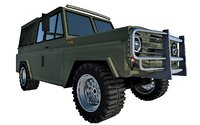 military 4x4 vehicle 3D model