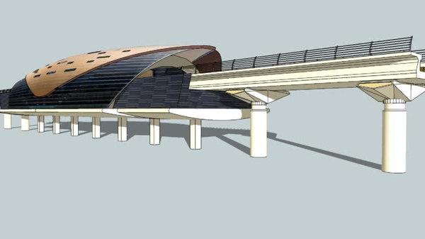 dubai metro 3D