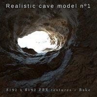 realistic cave 3D model