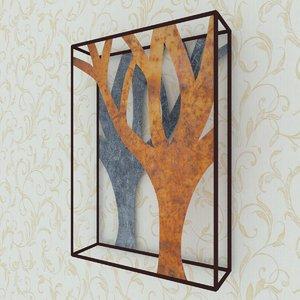 tree wall 3D model