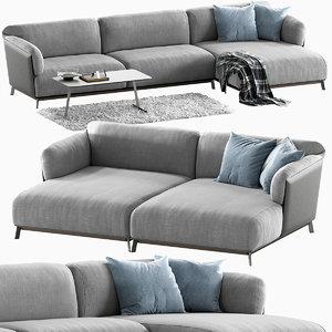 ditre italia kailua sofa 3D model