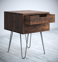 3D model table vintage style
