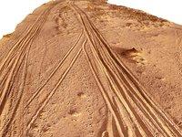 3D desert road dakar 24k model