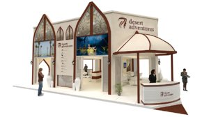 exhibition stand 12mx10m 120sqm model