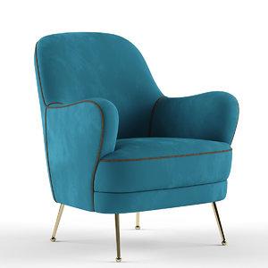 tosconova lady armchair 3D model