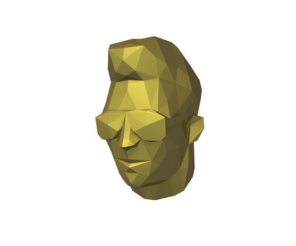 3D low-poly head model