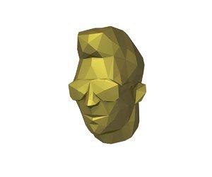 3D low-poly head model