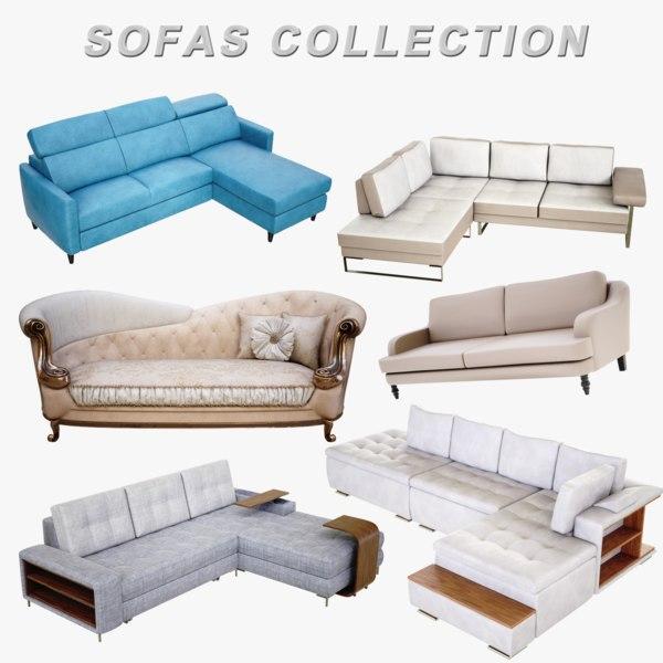 3D sofas lightwave 4k model