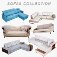 3D sofas lightwave 4k model