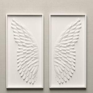 paper angel wing art 3d max
