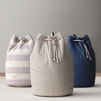 SOLID CANVAS HAMPER