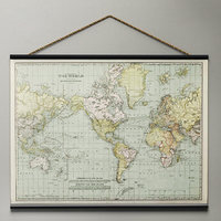 vintage world tapestry 3d model