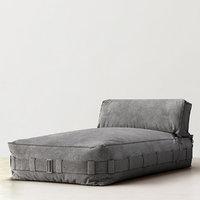 cargo lounge armless chaise 3d obj