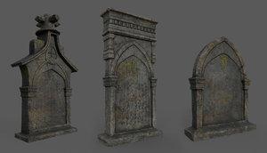 tombstones bloodborne style 3D