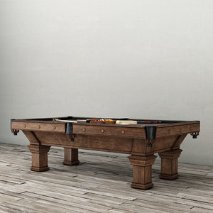 brunswick vintage billiards table 3d max