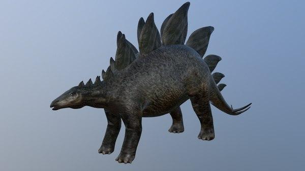 3D model dinosaur stegosaurus