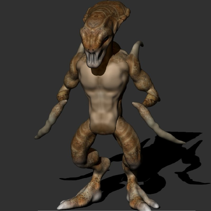 Alien creature 3D model - Turb...