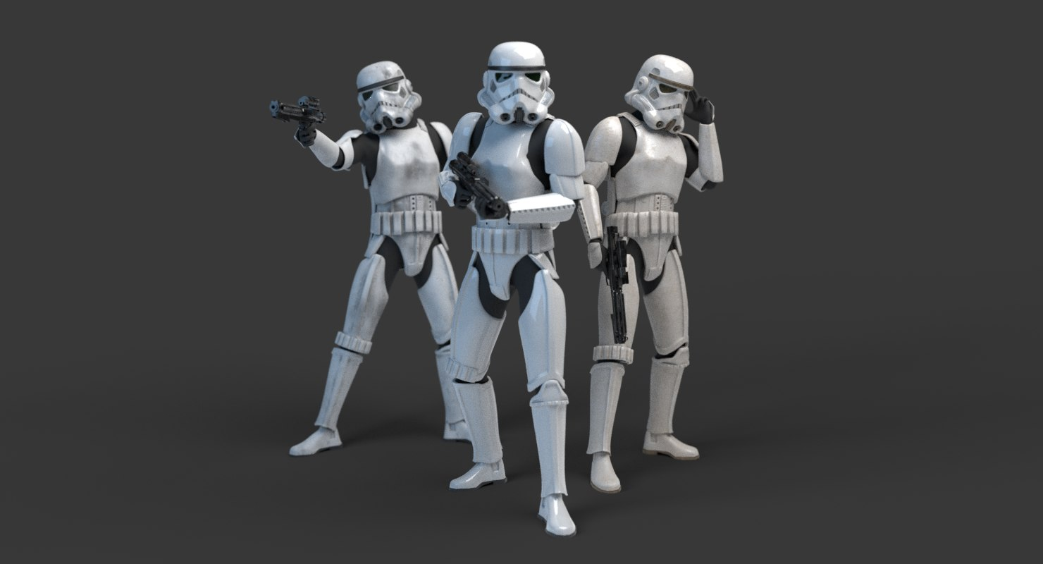 stormtrooper rigged 3d 3ds
