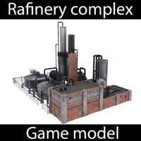 3D rafinery - model