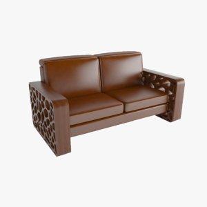 porous sofa 3D model