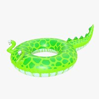 realistic pool toy dinosaur 3D model