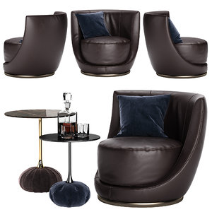 - laurent chair 3D model