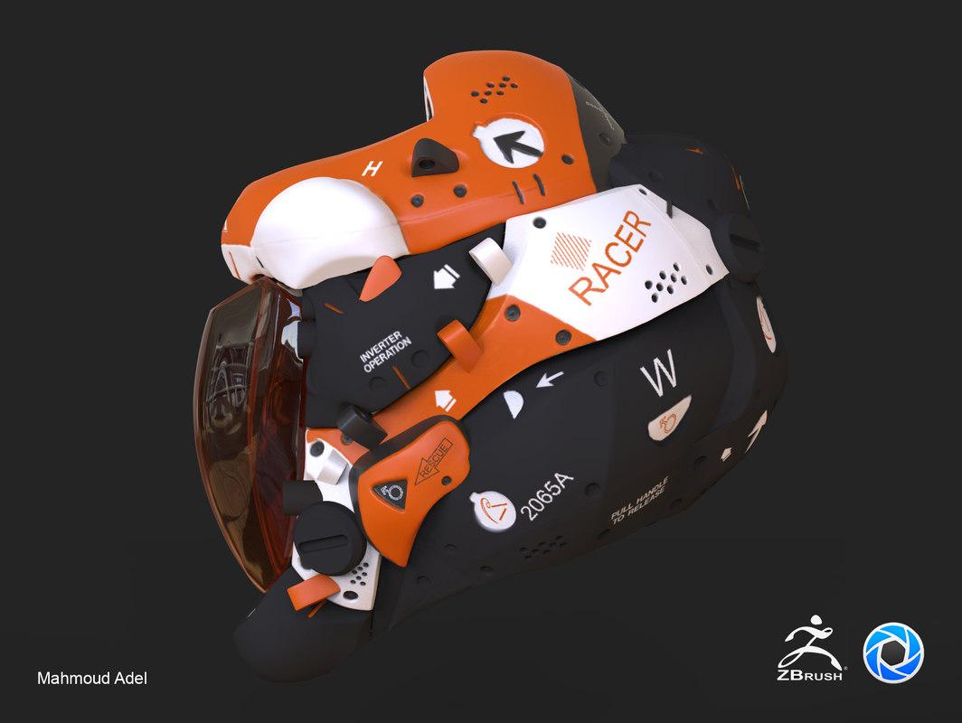 helmet motorcycle keyshot model