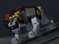 3D black lion voltron