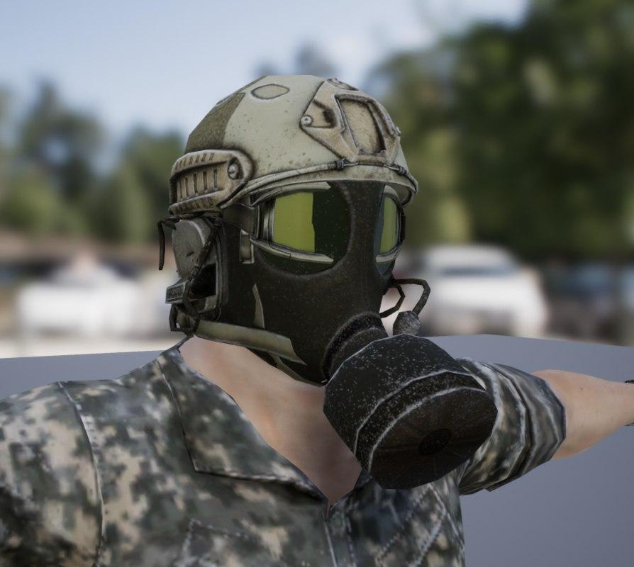 3D soldier model