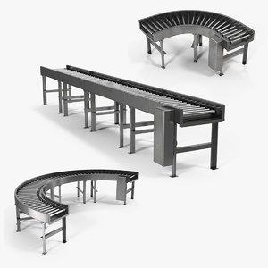 3D roller conveyors model