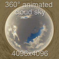 360  coming storm sky with cloud animation